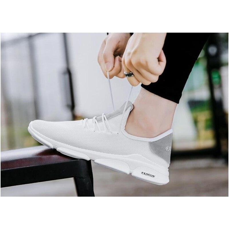 2019 Zomer Nieuwe Mannen Schoenen Lac up Mannen Casual Schoenen Lichtgewicht Comfortabele Ademend Paar Wandelen Sneakers Feminino Zapatos - 3