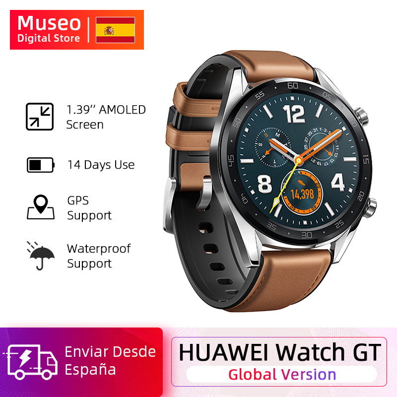Sports Version Global Huawei Watch GT Smart Watch GPS 14 Days Battery Life 5 ATM Waterproof Phone Call Heart Rate