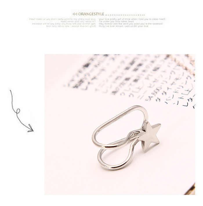 1 قطع Pearl البيع اللؤلؤ حجر الراين الأذن الكفة أقراط للنساء مجوهرات الأزياء الذهب الفضة كليب على أقراط دون ثقب