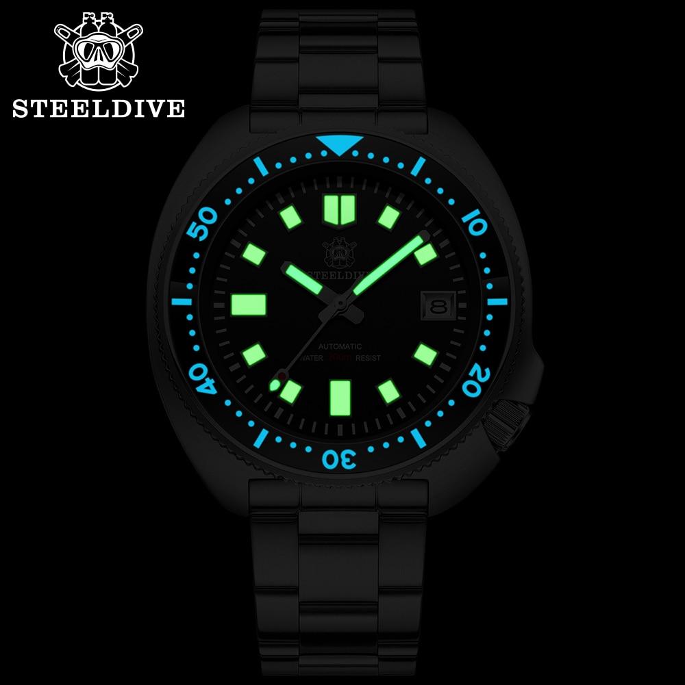 H9048a38afd604f4da7e51300decff5cdw SD1970 Steeldive Brand 44MM Men NH35 Dive Watch with Ceramic Bezel