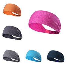 Women Men Wide Sport Sweat Sweatband Headband Yoga Gym Stretch Hair Band Sport Accessories Head Band Sport #H(China)