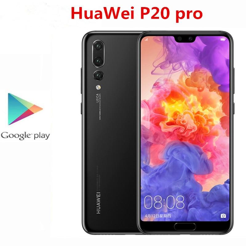Оригинальный HuaWei P20 Pro 4 аппарат не привязан к оператору сотовой связи мобильный телефон 40.0MP + 20.0MP + 8.0MP + 24.0MP Kirin 970 6,1