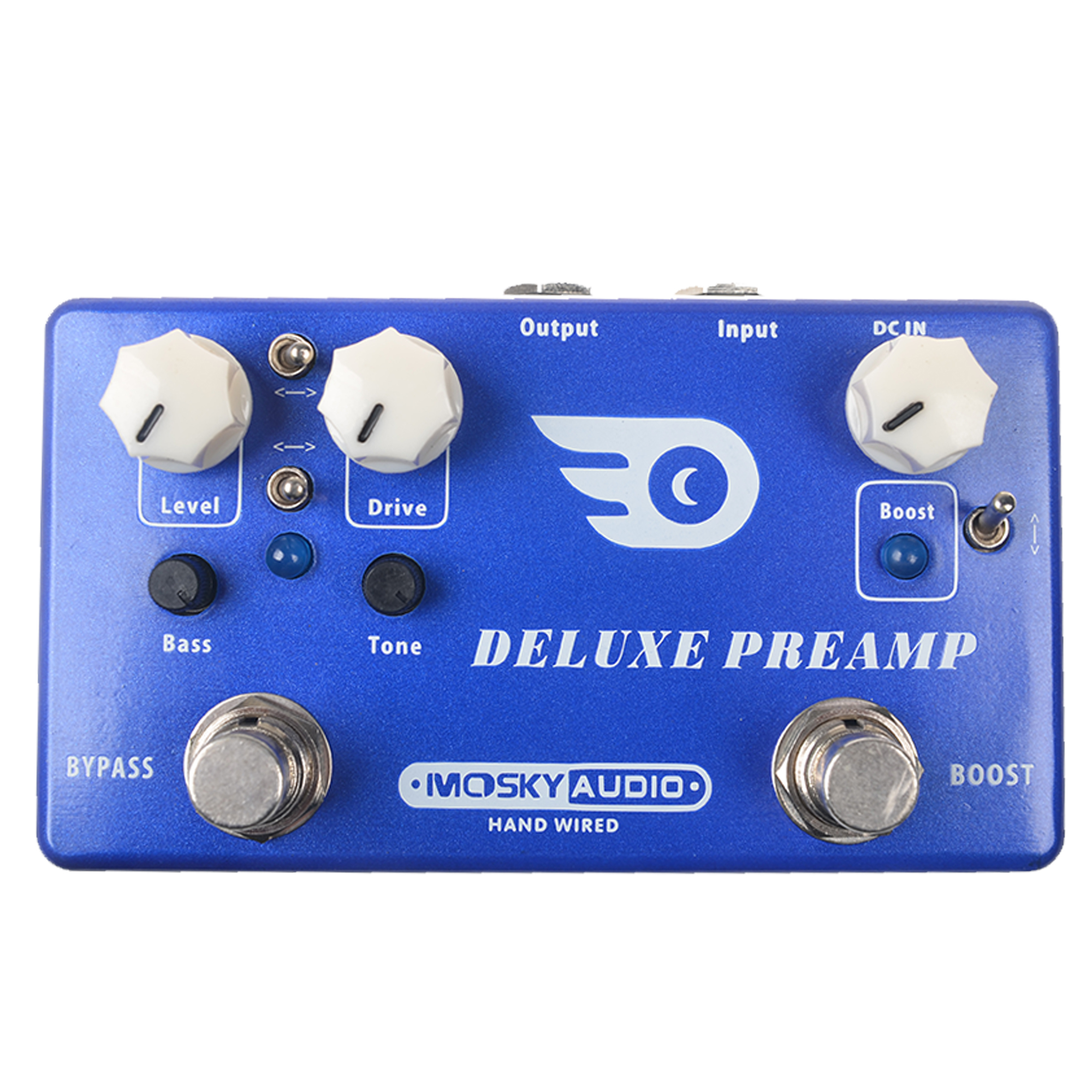 mosky deluxe preamp multi effects guitar effect pedal boost and overdrive pedal effect guitar. Black Bedroom Furniture Sets. Home Design Ideas