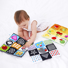 Toys Montessori Baby Cloth Soft for Newborn Kids Learning Educational-Toy Black White