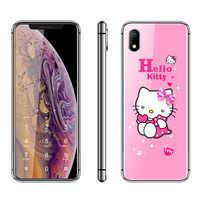 Hello Kitty de lujo linda chica teléfono 2,4 Dibujos Animados teléfono móvil MP3 FM Bluetooth desbloqueado niños teléfono móvil barato h-mobile