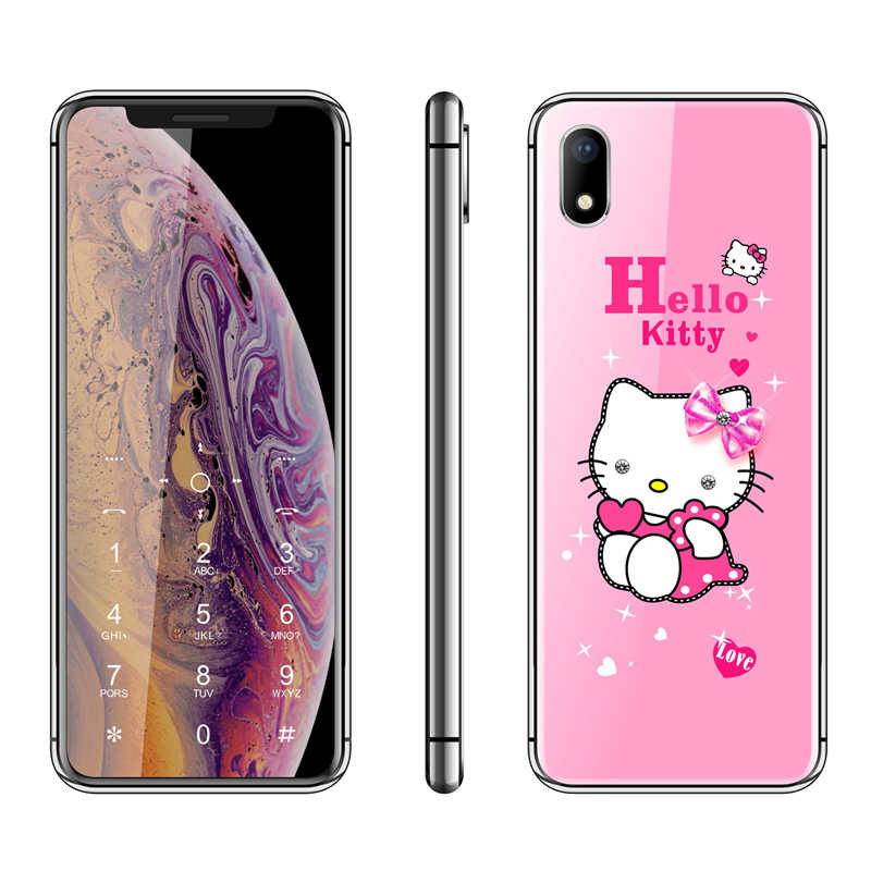 Hello Kitty Luxury Cute Girl Phone 2 4 Cartoon Mobile Phone Mp3 Fm Bluetooth Unlocked Kids Children Cheap Cell Phone H Mobile Aliexpress