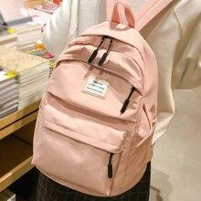 JOYPESSIE Fashion Waterproof Backpack Black School Bag Women Men Simple For Teenager Girl Nylon Travel Mochilas Rucksack