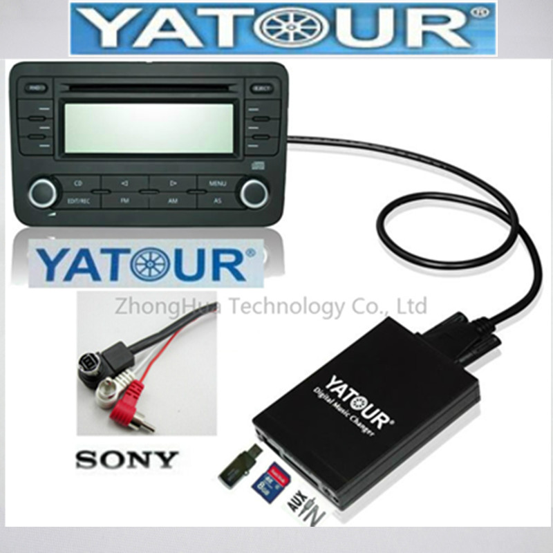 Yatour Digital Music Car Audio USB Stereo Adapter MP3 AUX Bluetooth for Sony Head Unit interface CD Changer Player image