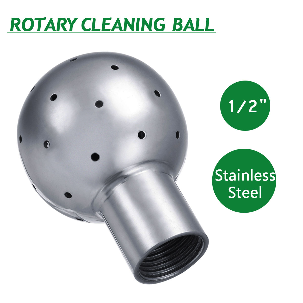 1/2 Inch Stainleess Rotary Spray Ball Sanitary Female Thread CIP Tank Cleaning Head 360 Degree Coverage Wash Fitting New