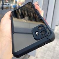 Custodia protettiva per telefono trasparente con cornice antiurto di lusso per iPhone 11 12 Pro Max Mini XR X XS 7 8 Plus SE 2 custodia protettiva trasparente