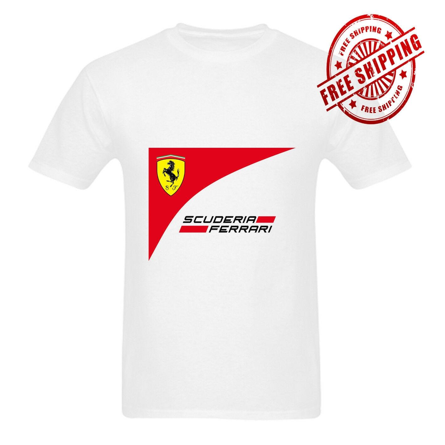 Scuderia White T Shirt Unisex Size S-3XL