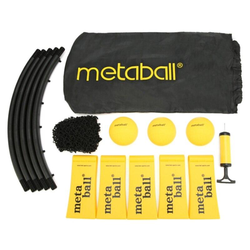 Мини пляжный волейбольный Спайк Набор для игры в мяч открытый командный спортивный мяч газон оборудование для фитнеса с 3 мячиками волейбол