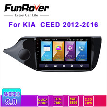 Funrover 2 DIN 2.5D + IPS dvd del coche para KIA Cee 'd CEED JD 2012-2016 auto Radio Multimedia reproductor de Video GPS de navegación Android 9,0 rds(China)