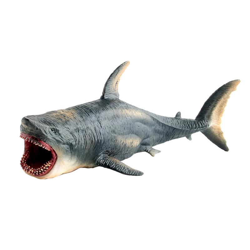 1Pc Simulated White Shark Model Toys Creative Marine Animal Model Toys Soft Plastic Stuffed Cotton Shark Toy Oversized Lifelike