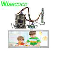 wisecoco 12.3 inch stretched bar LCD Screen HSD123KPW1 A30 Display 1920X720 Andriod board internet WIFI Bluetooth audio