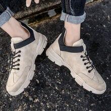 Кожаные ботинки мужская повседневная обувь мужские ботильоны