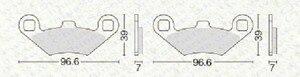 Image 2 - 3 أزواج الجبهة الفرامل الخلفية ل بولاريس رياضي 400 500 700 800 EFI 2003 2004 2005 2006 2007 2008