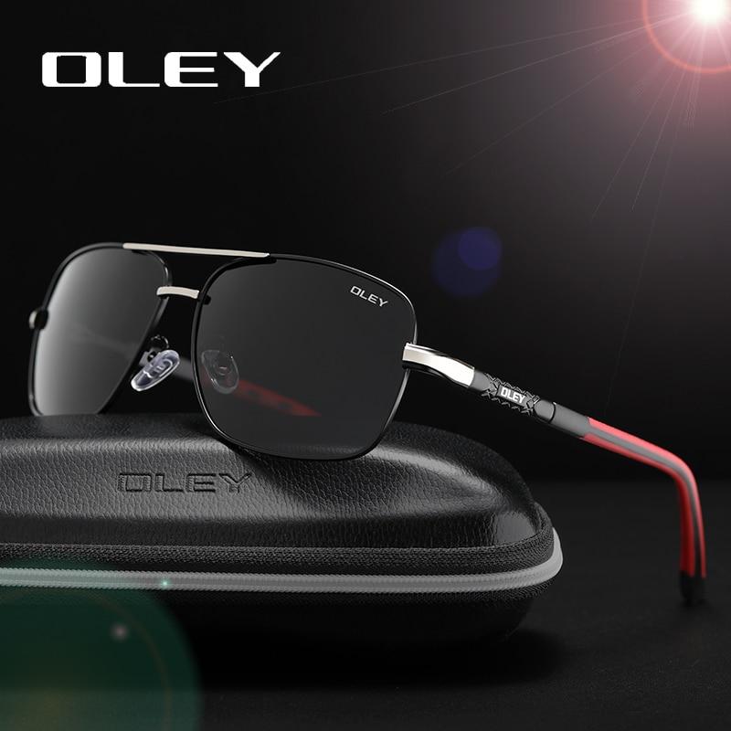 Gafas de sol polarizadas de marca OLEY hombres nuevos ojos de moda protegen gafas de sol con accesorios gafas de conducción Unisex oculos de sol