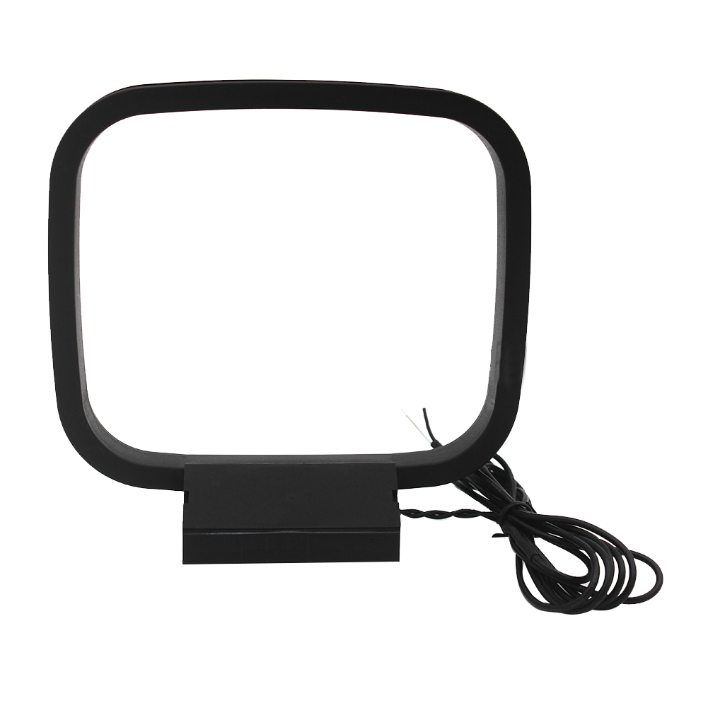 Indoor AM FM Loop Antenna Aerial Connector for StereoAudio Receiver System IJ