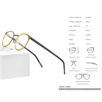FONEX Acetate Alloy Vintage Eyeglasses 2