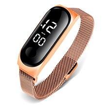2020 Для женщин цифровые часы из розового золота лучший бренд