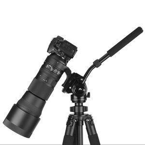 Image 4 - Camera Statief Hoofd 18Kg Belasting Vloeistof Hoofd Aluminium Draaibare Panhead Video Dslr Digitale Camera Professionele Statief Handvat Pan Hoofd