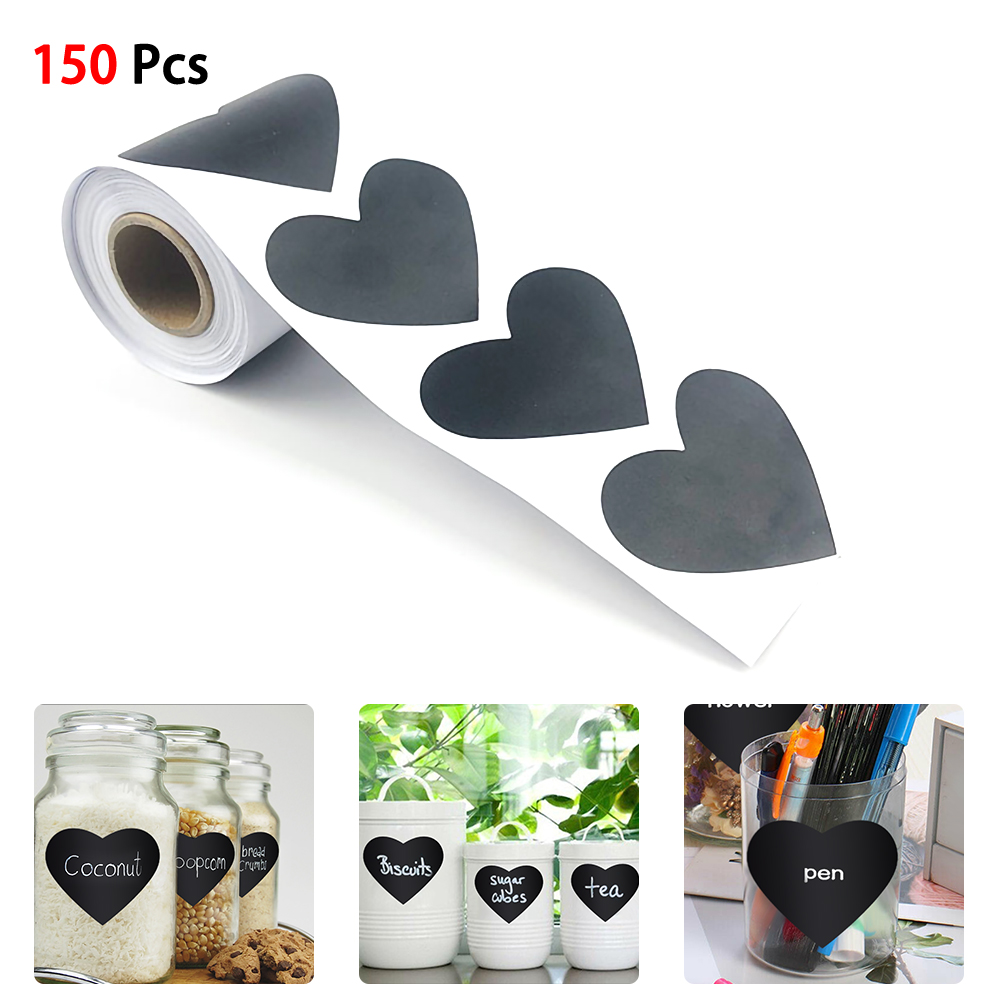 150pcs//roll Waterproof Chalkboard Kitchen Spice Label Stickers Home Bottle Tags