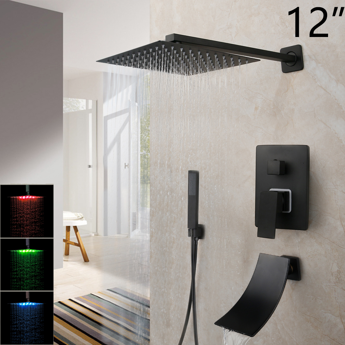 LED 12 Inch ShowerW1