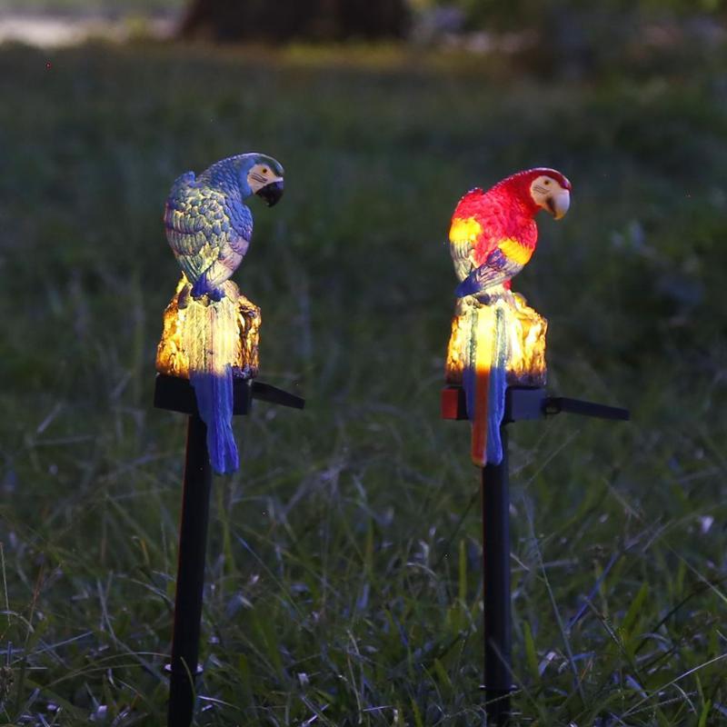 Papagaio Gramado Energia Solar LEVOU Luz Ao Ar Livre Do Jardim Da Lâmpada Paisagem À Prova D' Água Apoio Dropshipping