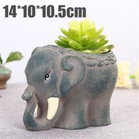 NEW Animals Shape Ceramic Flower Pot Elephant Succulent Planter Cactus Succulent Plants Flower Cute Potted plant 14*10*10.5cm