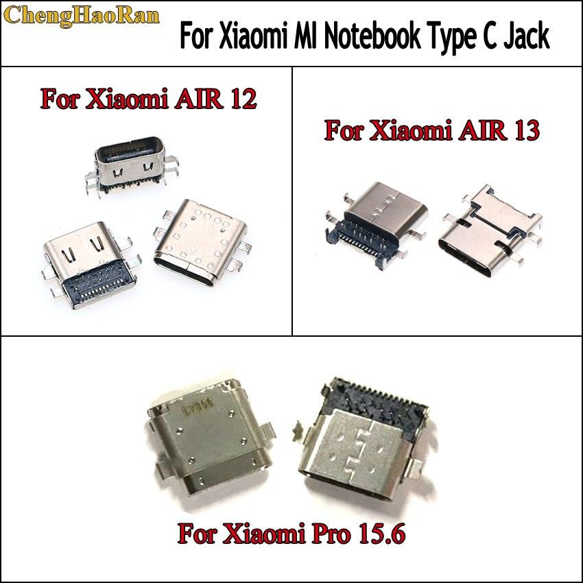 ChengHaoRan 2pcs For Xiaomi Notebook Mi Air 13/12 161301-01 161201-01 15.6 Pro Power Jack Charging Port Type-c Usb Connector