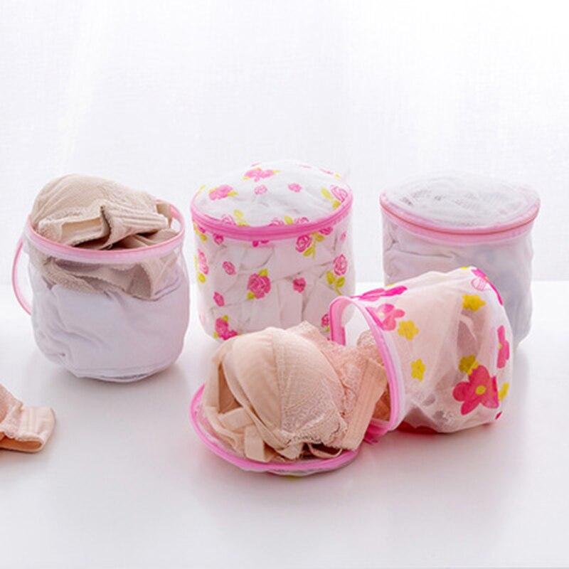 Floral Color Clothes Washing Machine Laundry Bags Washing Hosiery Saver Protect Women Bra Mesh Net Wash Bag Bathroom Tools 1PC