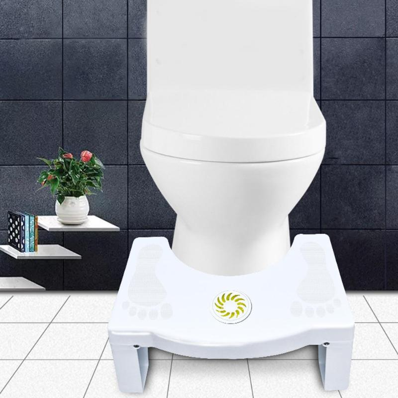 Squatting Stool Toilet Bathroom Anti Constipation For Kids Non-slip Foldable Plastic Footstool Squat Proper Posture Portable For