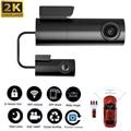 OLOPKY Dash Cam Mini 2K QHD на базе IOS, Android, автомобильный Камера 24 часа в сутки парковка с встроенным Wi-Fi и GPS вождения видео 1440P Автомобильный Камера