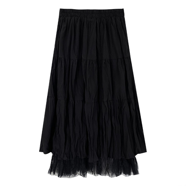 Long Skirt With Lace Ruffles  6