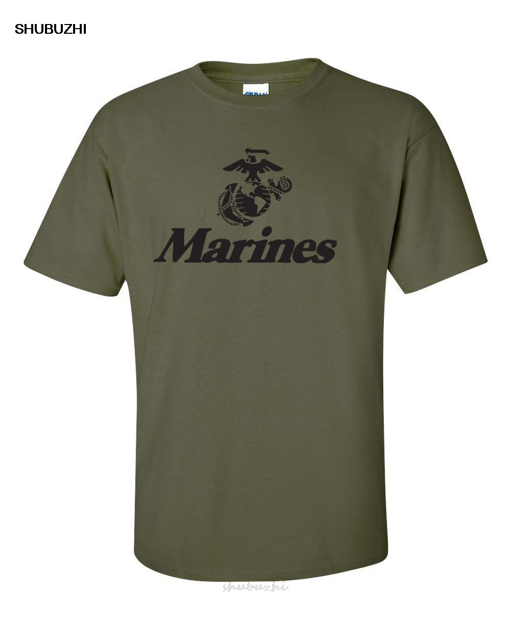 Fashion Cotton <font><b>T</b></font>-<font><b>shirt</b></font> Marine Corps U.S. United States Marines <font><b>USMC</b></font> Military Men's Tee <font><b>Shirt</b></font> image