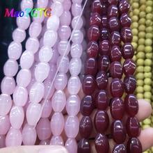 Ожерелье из настоящего природного граненый баррель бусины для самостоятельного изготовления ювелирных изделий браслет Цепочки и ожерелья 12X8 мм розовый Натуральный камень бисер оптом