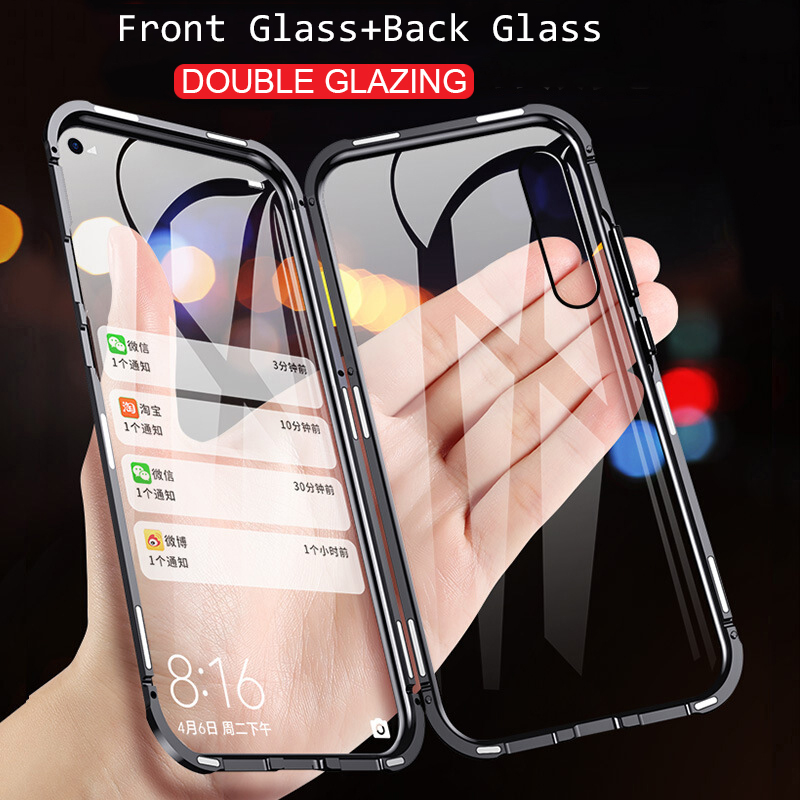 360 Magnetic Adsorption Double Side Glass Phone Case For Huawei Honor 20 P30 P20 Lite Pro 10 8X 9X View 20 V20 Mate 10 20 30 image