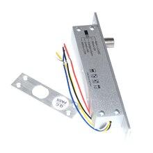להיכשל בטוח fail מאובטח חשמלי בורג זרוק דלת מנעול נמוך טמפרטורת זמן עיכוב עבור בקרת גישה מערכת דלת חשמלית נעילה