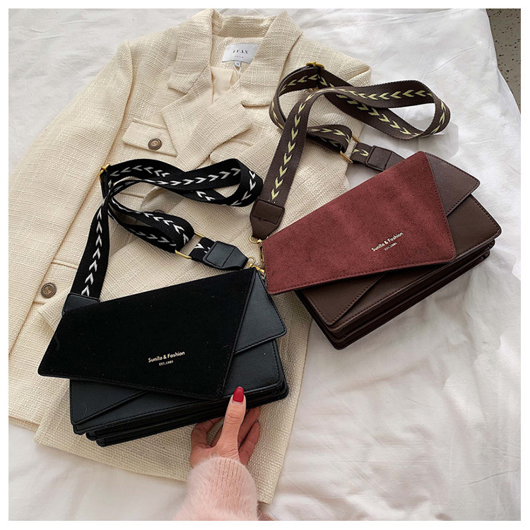 Brand Originality Design Handheld Frosted bag women 2020 new version of Joker shoulder slung fashion broadband small square bag 5