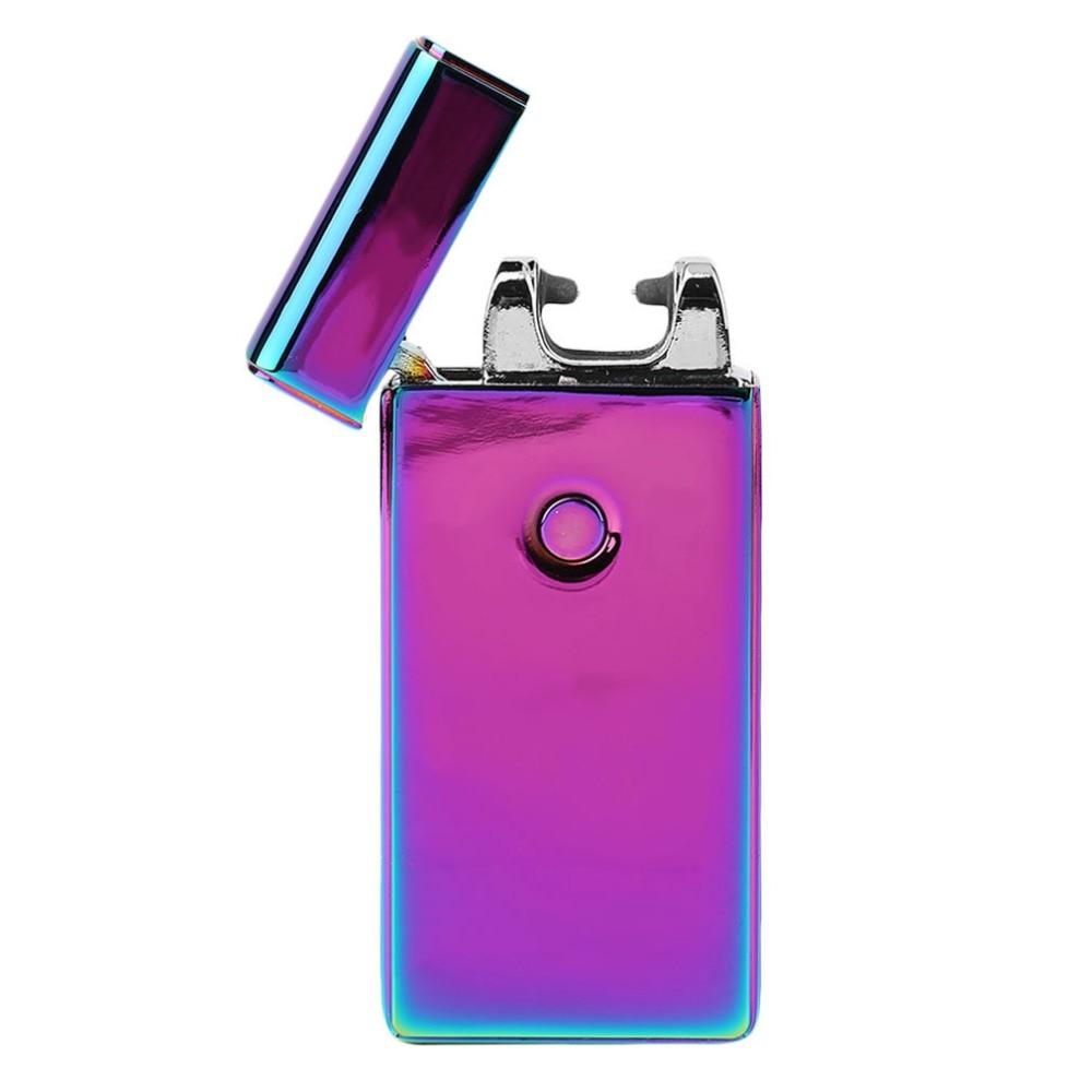 High Quailty Double fire Cross Double Arc Lighter Case USB Pulse Windproof Lighters Electronic Metal Men Cigarette lighter
