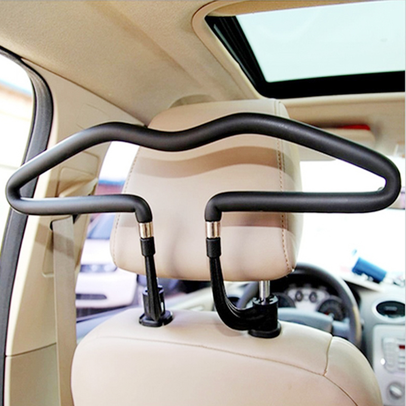 Stainless Steel Plus PVC Car Hanger Back Seat Headrest Coat Drying Rack Jacket Suit Machine Drying Rack Universal Car Supplies