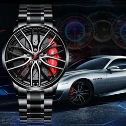 Llanta de rueda de coche deportiva NEKTOM, relojes para hombre, diseño personalizado, Cubo de llanta de coche deportivo, reloj de hombre de acero inoxidable, reloj creativo impermeable
