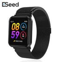ESEED EP11 smart watch fitness wristband bracciale in metallo 1.3 pollici colorato UI salute frequenza cardiaca PK B57 fitbits xiao mi band 4
