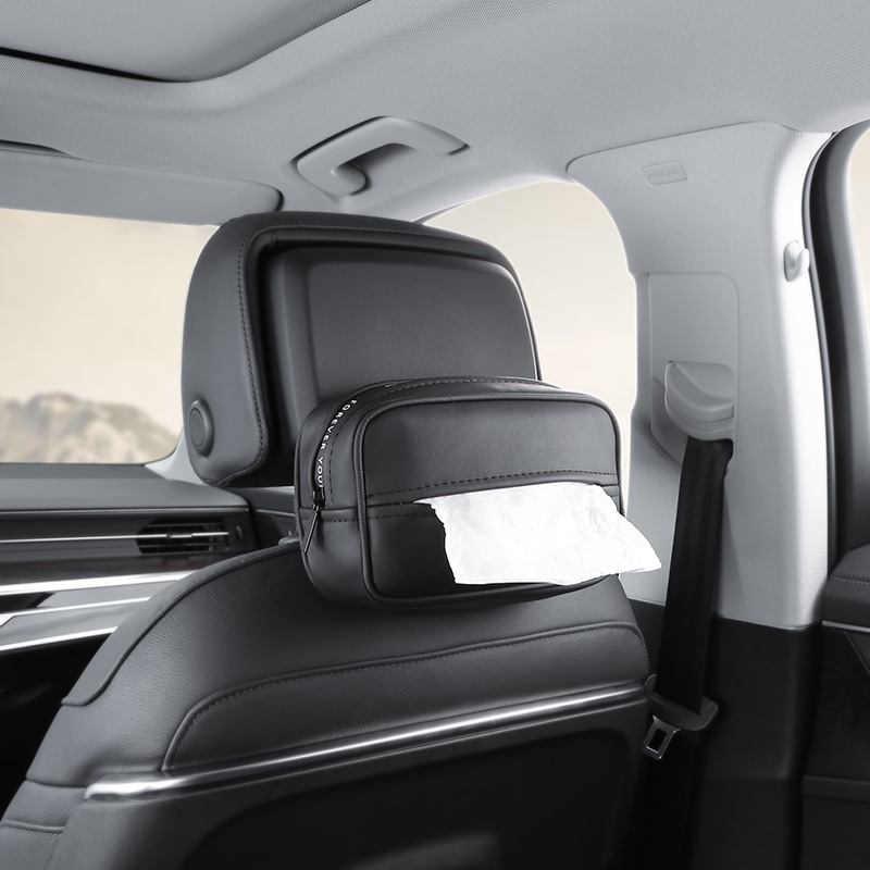 New High Quality Universal Car Sun Visor PU Leather Tissue Box Car Accessories  Benz W202 W203 W204 W208 W210 W220 W