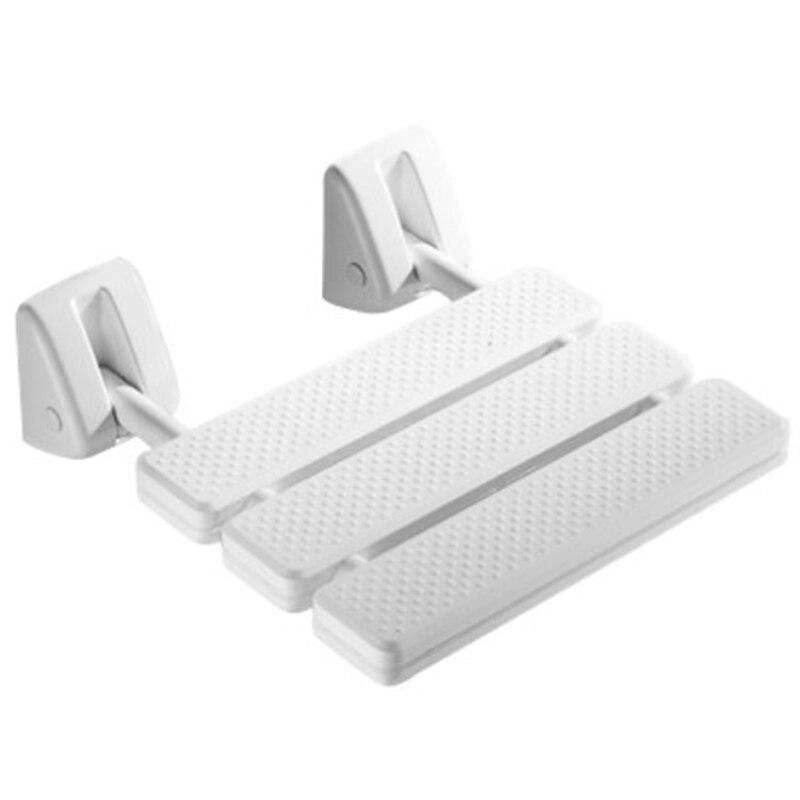 Image 3 - Wall Mounted Shower Seat Bathroom Shower Folding Seat Folding Beach Bath Shower Stool Toilet Shower ChairBathroom Chairs & Stools   - AliExpress