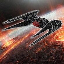 648 + pçs star wars moc a força desperta série kylo ren twin íon motores lutador blocos de construção tijolos crianças brinquedos