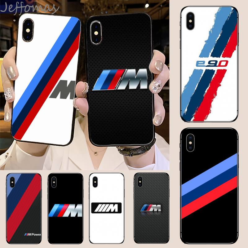 Germany Bmw Blue Red Sport Car Soft Phone Case Capa For iphone 5 5S SE 5C 6 6S 7 8 plus X XS XR 11 PRO MAX image