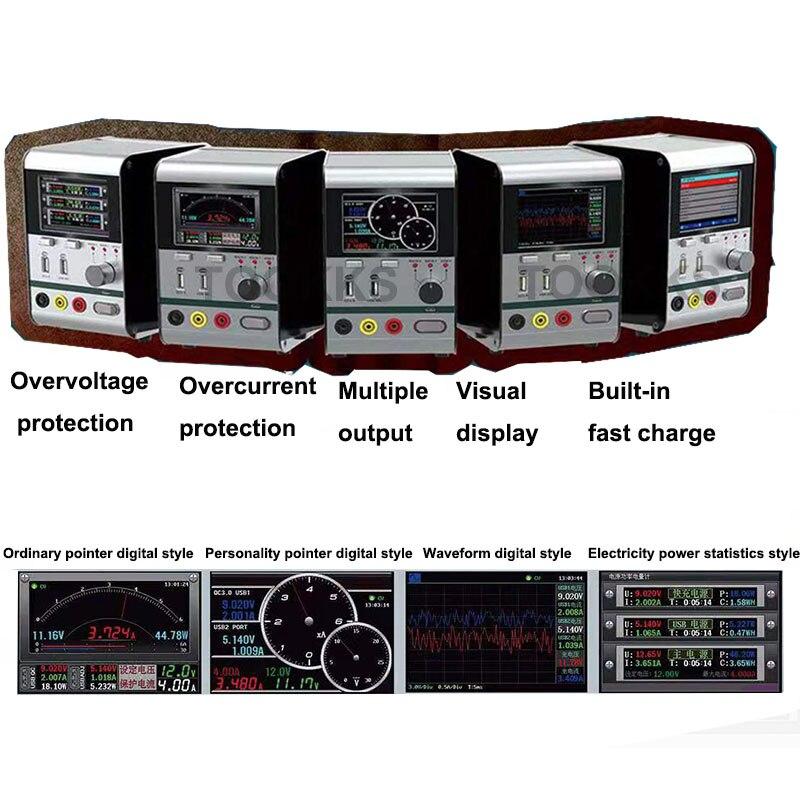 Hr3006 30 v 6a inteligente regulador de tensão corrente de energia com carregamento rápido usb porta ferramenta reparo do telefone atualizado a partir hr1203 - 5