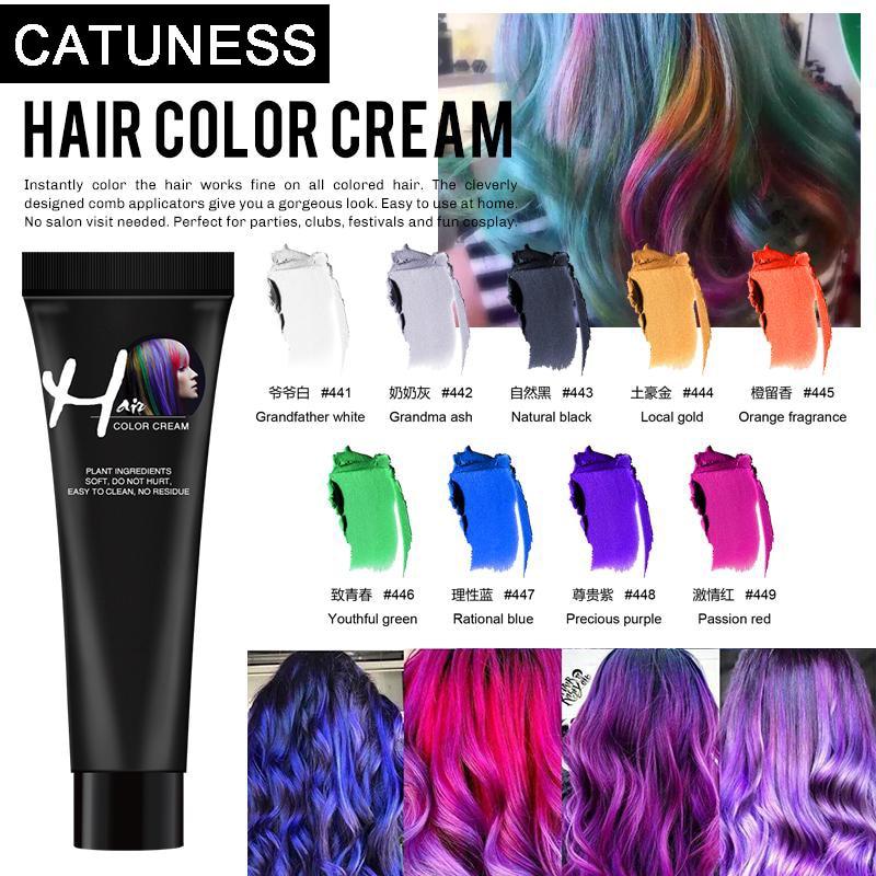 New Hair Girls Beauty Hair 9 Colors Hair Color Hair Dye Non-toxic DIY Hair Color Dye Cream Punk Style Blue Grey Purple Hair Dye